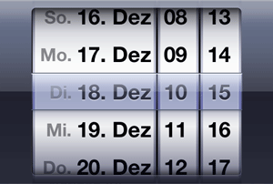 iOS date picker control