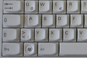 Section of Windows keyboard